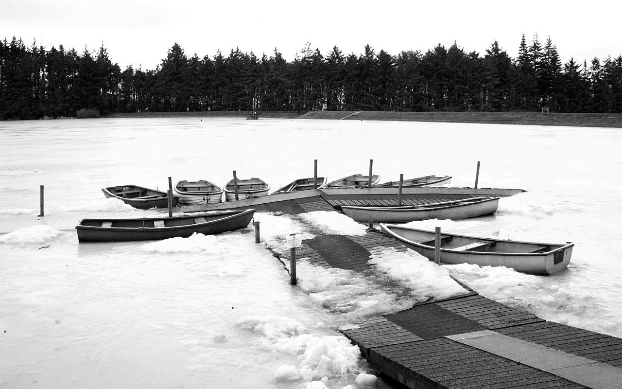 Frozen Loch at Beecraigs