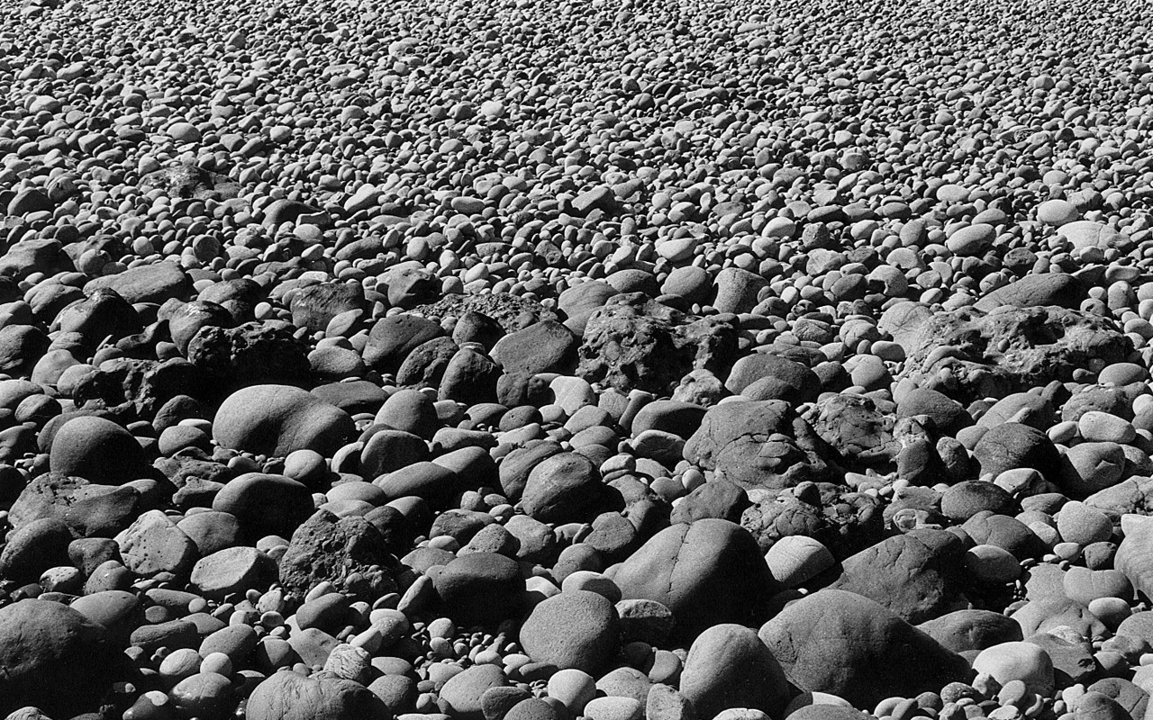 Stone beach at Dunnottar Castle